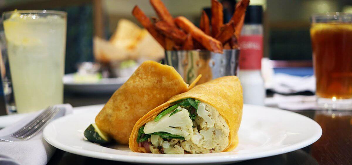 East Bank Club Grill Cauliflower Wrap