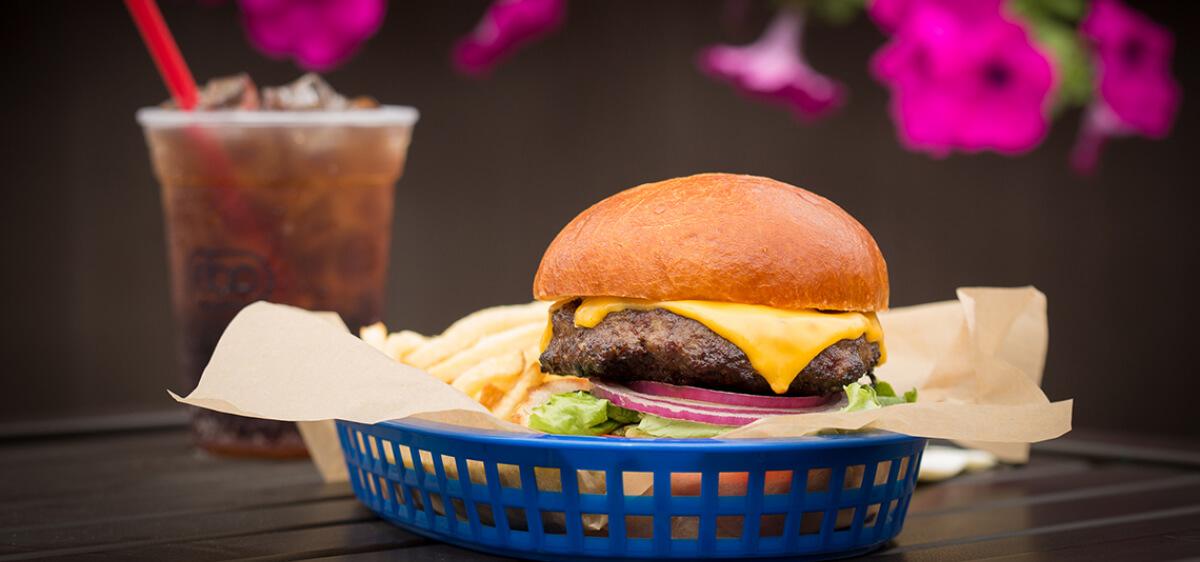 East Bank Club Sun Deck Hamburger
