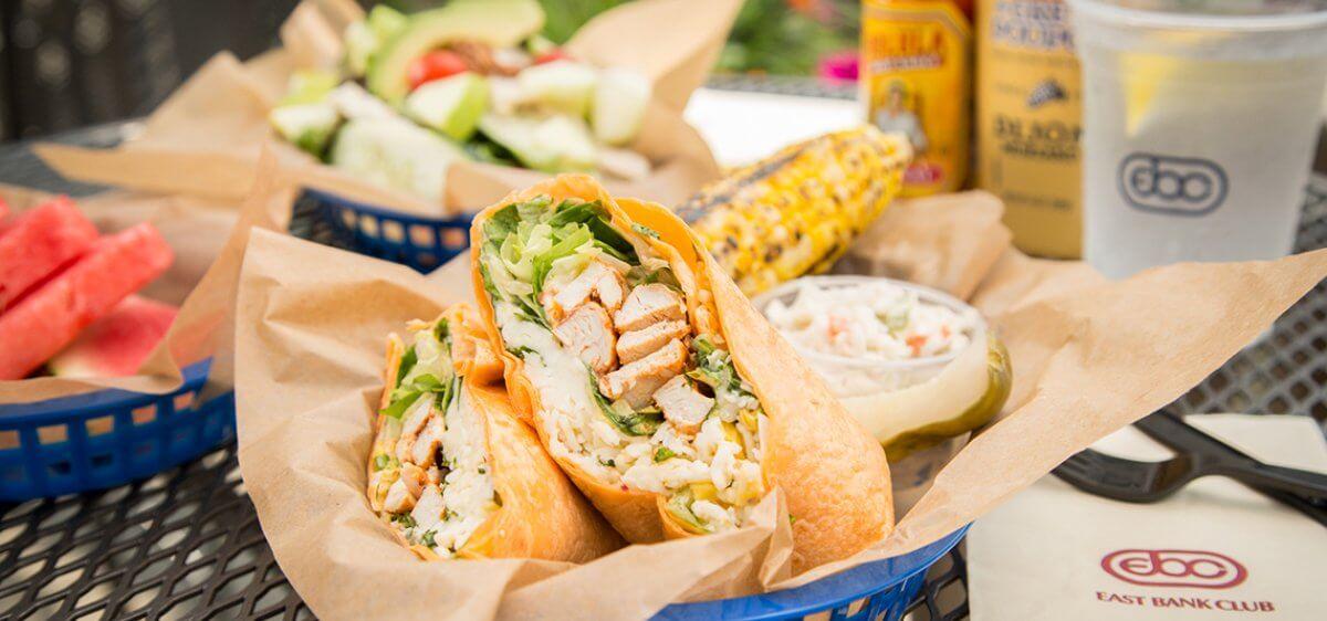 East Bank Club Sun Deck Chicken Wrap