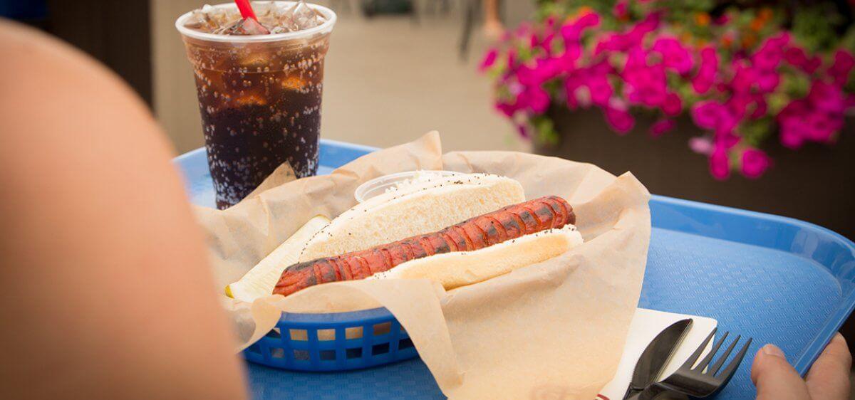 East Bank Club Sun Deck Hot Dog