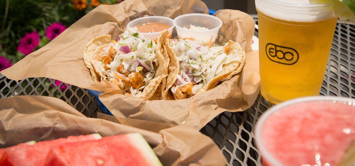 East Bank Club Sun Deck Tacos